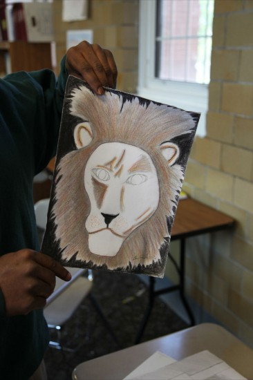 Students work through tough issues with Art Therapy. Photo by: Jeanne Wines-Reed