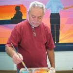 Emanuel mixing paint