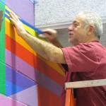 Emanuel working on mural
