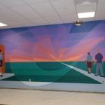 Mural 1 in process
