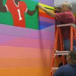 Mural in process 14