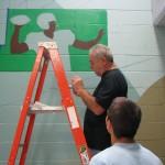 Mural in process 17