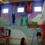 Mural in process 3.5