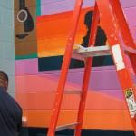 Mural in process 6