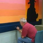 Mural in process 8