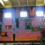 Mural near completion