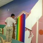 Mural in process