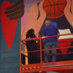 Mural in progress