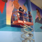 Mural in progress 2