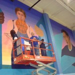 Mural in progress 3