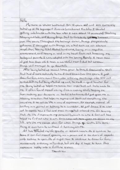 Skyler's Letter